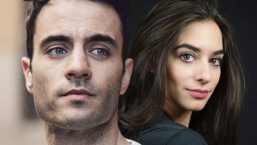 Alessandro Bruni y Alejandra Meco, Álvaro y Elsa en 'El secreto de Puente Viejo'