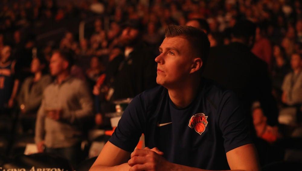 Kristaps Porzingis, en su etapa como jugador de los New York Knicks