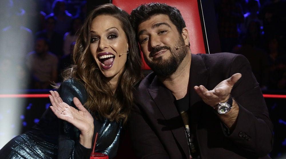 Eva González y Antonio Orozco en los Directos de 'La Voz'