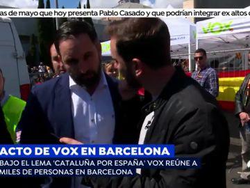 """Santiago Abascal sobre las agresiones contra el acto de Vox en Barcelona: """"Es una demostración del odio"""""""