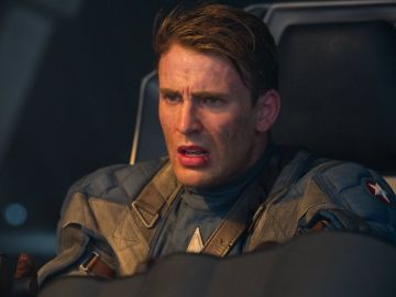 Chris Evans como el vengador Capitán América