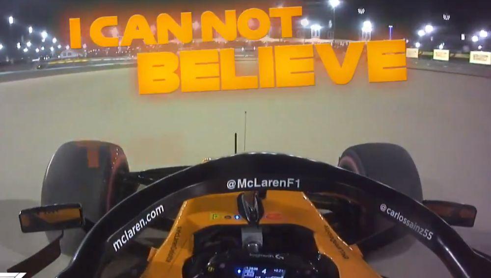 Sainz, desesperado con Verstappen