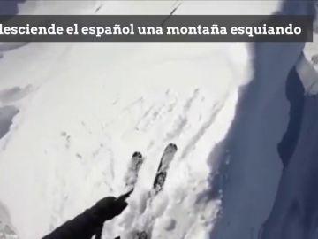 Pone los pelos de punta: el brutal descenso esquiando de Kilian Jornet