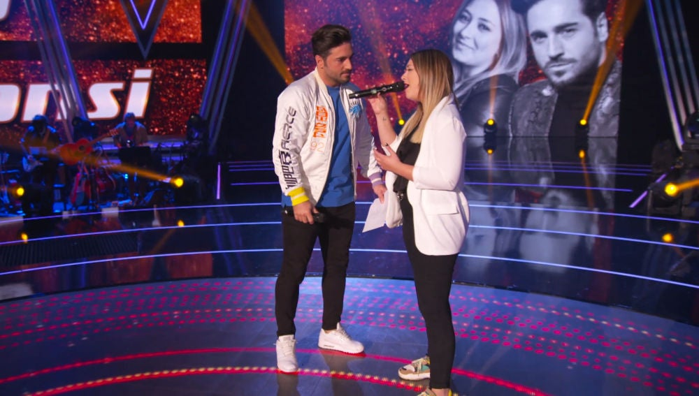 María Espinosa y David Bustamante ensayan 'Héroes', la canción que interpretarán juntos en la Final de 'La Voz'