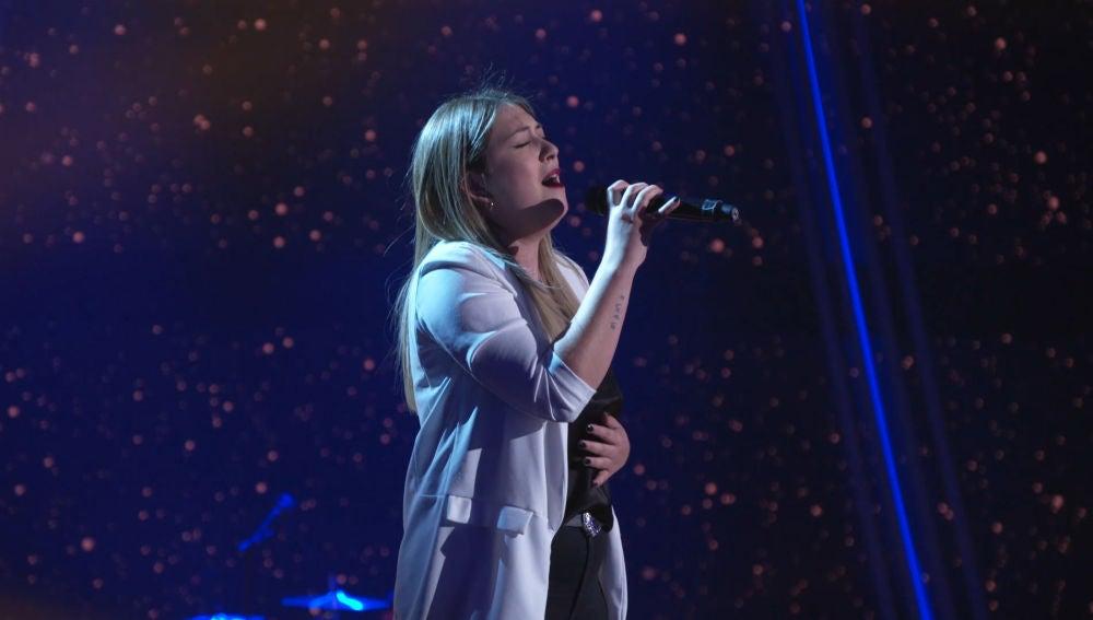 María Espinosa enamora en el ensayo para la Final de 'La Voz' con la canción 'Amiga mía'