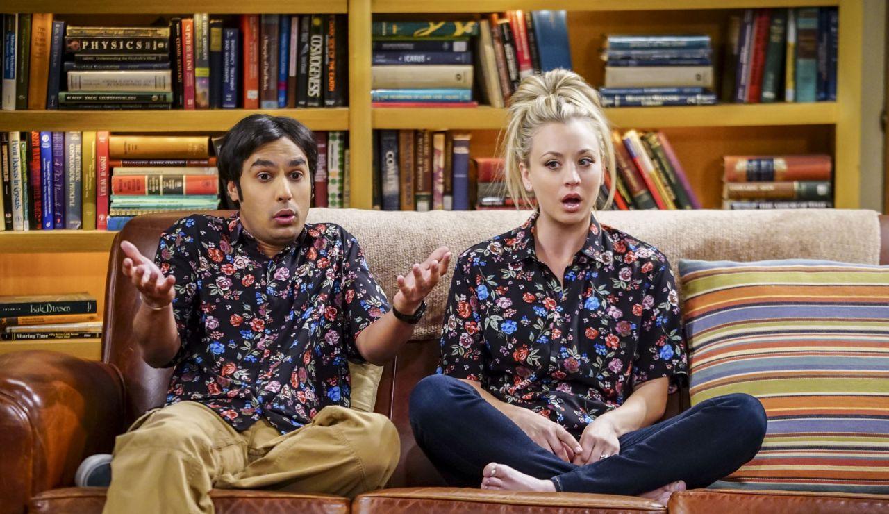 Kaley Cuoco y Kunal Nayyar son Penny y Raj en 'The Big Bang Thoery'
