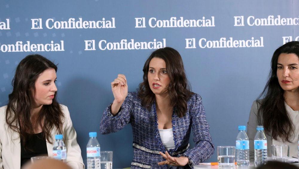 Las candidatas Irene Montero (Podemos) e Inés Arrimadas (Ciudadanos)