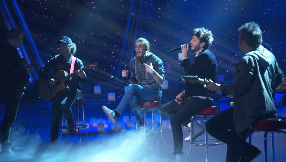 Andrés Martín y Sebastián Yatra ensayan juntos la canción con la que harán vibrar el plató en la Final de 'La Voz'