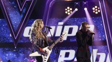 Miriam Rodríguez y Andrés Martín cantan 'Mejor sin miedo' en la Final de 'La Voz'