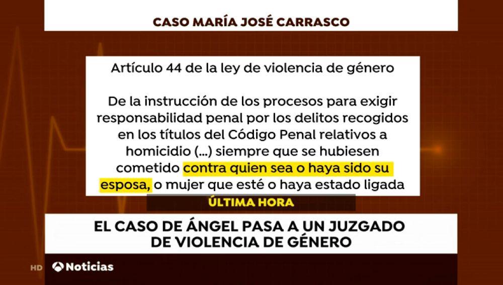 Un juez de violencia machista investigará al hombre que ayudó a morir a su mujer, María José Carrasco