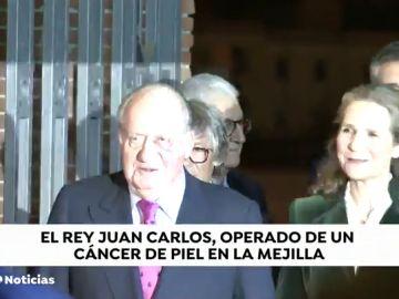El Rey Juan Carlos, operado de un carcinoma basocelular en la mejilla, un tipo de cáncer de piel