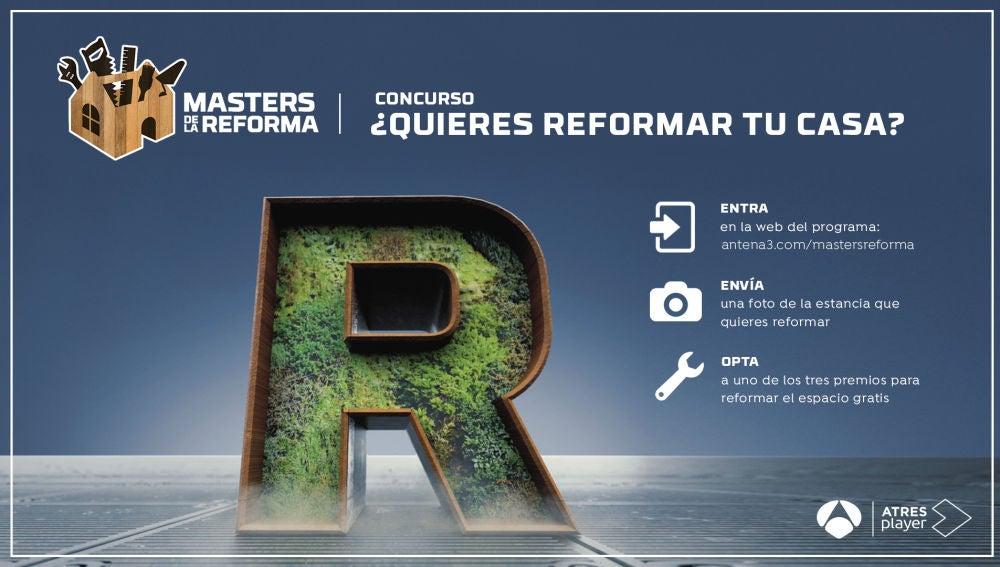 ¿Quieres que 'Masters de la reforma' transforme tu casa? ¡Participa en nuestro concurso!