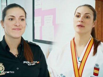 Laura Palacio, la campeona de Europa de Kárate y Policía que da charlas contra las drogas en colegios