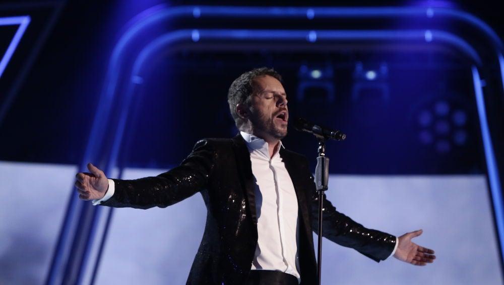 Ángel Cortés canta 'Unchained Melody' en la Final de 'La Voz'