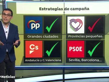 ¿A qué ciudades irán los políticos durante la campaña?