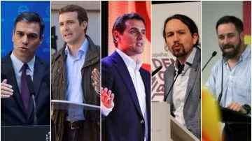 Los principales líderes políticos