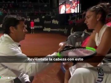 """El polémico trato de su entrenador a la tenista Sara Sorribes: """"¿Me pongo la faldita y juego yo?"""""""