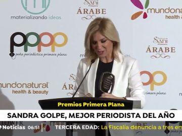 Sandra Golpe, galardonada con el Premio de Comunicación 'Hugo Ferrer'