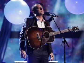 Javi Moya, en la Final de 'La Voz'