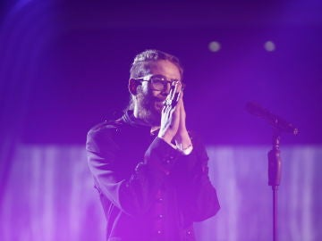 Andrés Martín en la Final de 'La Voz'