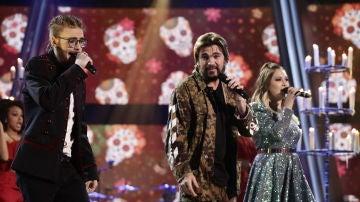 Juanes, María Espinosa y Andrés Martín llenan el plató de ritmo con 'La Plata'