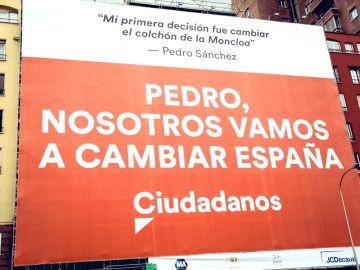 El cartel que Ciudadanos tendrá que retirar