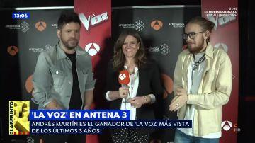 """Las palabras de Andrés Martín tras ganar 'La Voz': """"Ha sido un gran paso a nivel personal"""""""