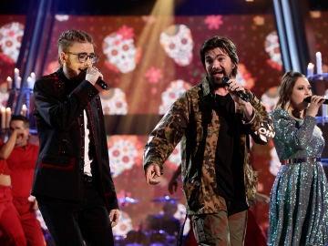 Juanes canta 'La Plata' con María Espinosa y Andrés Martín en la Final de 'La Voz'