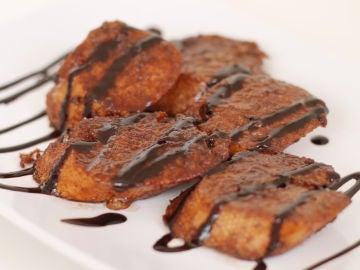 Torrijas sin gluten con chocolate