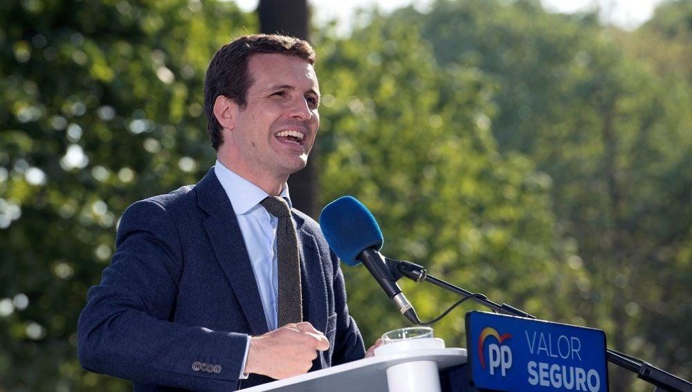 El presidente de PP, Pablo Casado