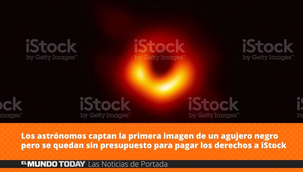 Captan la primera imagen de un agujero negro