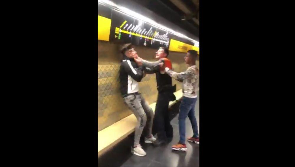 Agresión en el metro de Barcelona