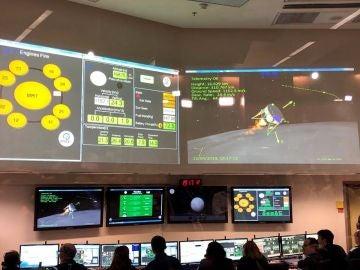 El centro de control de SpaceIL en Yahud (Israel)