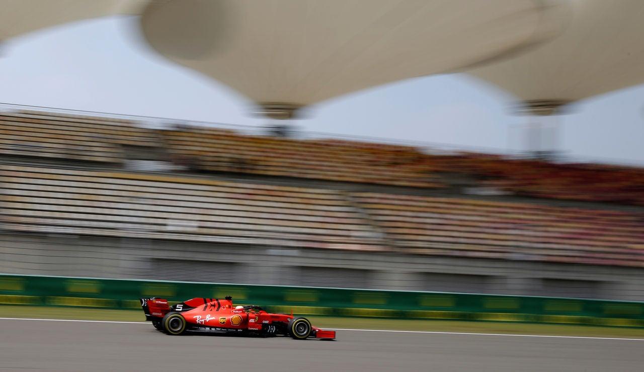Sebastian Vettel, en los Libres del GP de China