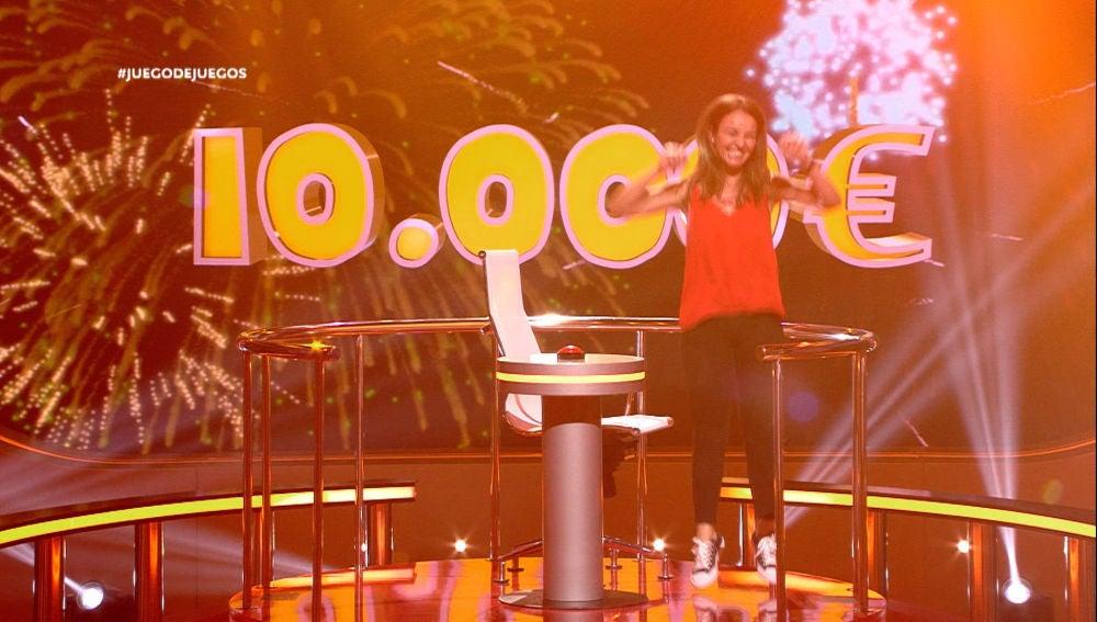 Laura gana 10.000 euros en 'Juego de juegos'