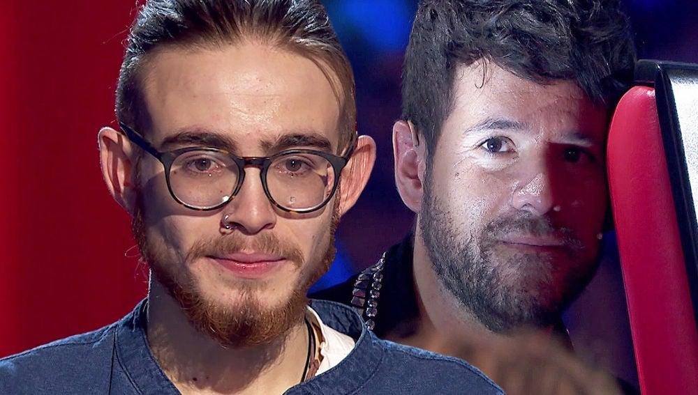 el primer encuentro de Andrés Martín y Pablo López en 'La Voz'