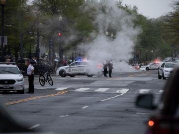 La Policía de Washington en el lugar de los hechos