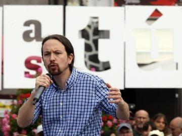 El candidato de Unidas Podemos a presidente del Gobierno, Pablo Iglesias