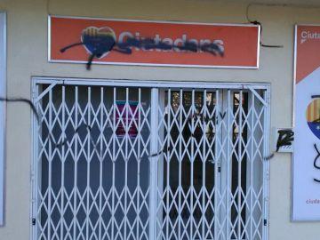 Imagen de la fachada de la sede de Ciudadanos en Calafell, Tarragona