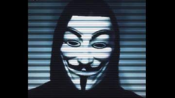 Un miembro de Anonymous