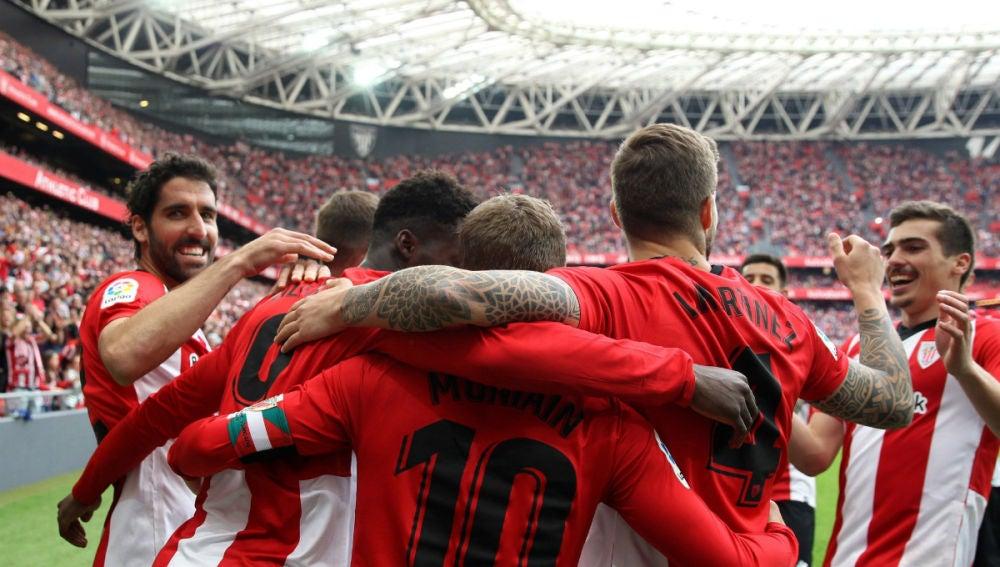 El Athletic celebra un gol