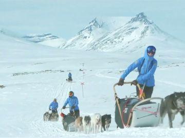 Así es la espectacular carrera de trineos tirados con perros a través de la tundra ártica