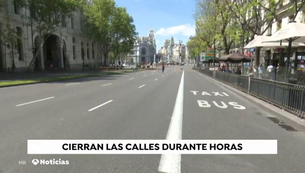 La zona centro de Madrid está cortada al tráfico y a los peatones