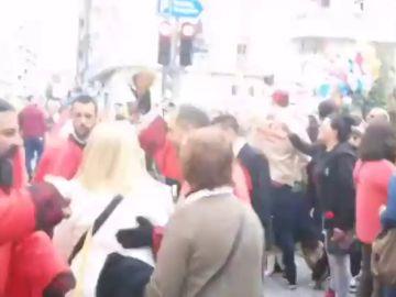 Enfrentamiento entre fieles de la Semana Santa y defensores de la República en Valladolid