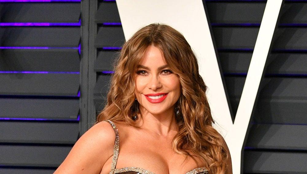 Sofia Vergara en la fiesta de los Oscar de Vanity Fair