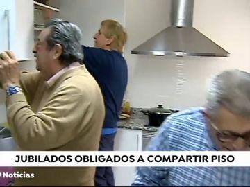 Jubilados obligados a compartir piso