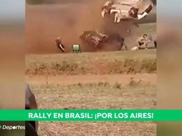 Milagro en Brasil tras un brutal accidente en un rally: solo hay un herido
