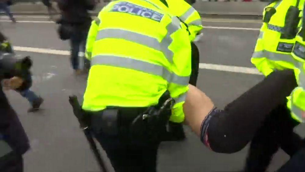 Alrededor de 200 personas son detenidas en una protesta en el centro de Londres