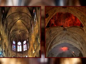 Antes y después de la catedral de Notre Dame