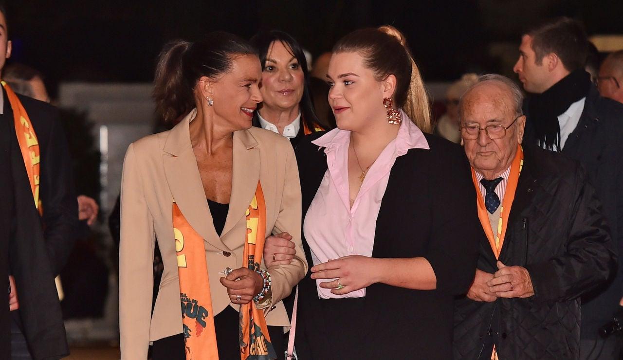 Estefania de Mónaco junto a su hija Camille el pasado enero